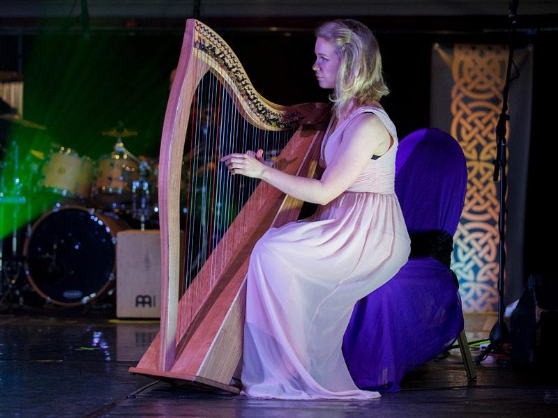 Gaelic Roots harpist